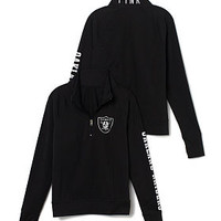 Oakland Raiders Athletic Half-Zip Pullover - PINK - Victoria's Secret