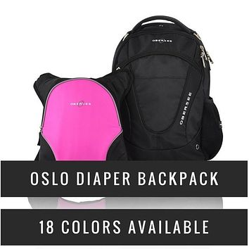 Obersee Oslo Diaper Backpack with Detachable Bottle Cooler