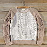 Fireside Nights Lace Sweatshirt