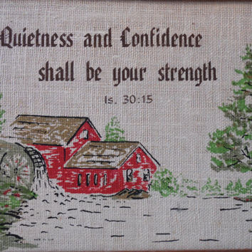 FREE SHIPPING - Religious  Wall Hanging/Bible Verses/Vintage Picture/Religious Picture/Religious Quote
