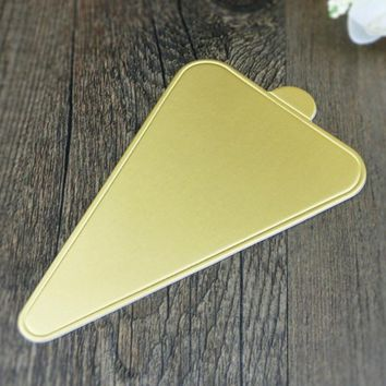Gold Triangle Cushion Cake Pad Paper Tray Table Mat