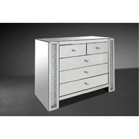 VIG Modrest Glimmer - Transitional Mirrored Dresser With Artificial Crystals
