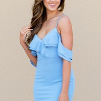 There She Glows Dress in Blue | Monday Dress