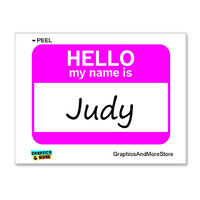 Judy Hello My Name Is Sticker