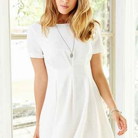 Lucca Couture Pleated Short-Sleeve Mini Dress