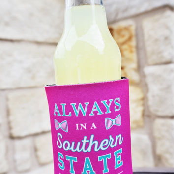 Southern State of Mind Koozie by JADELYNN BROOKE