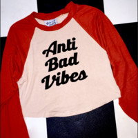 SWEET LORD O'MIGHTY! ANTI BAD VIBES RAGLAN