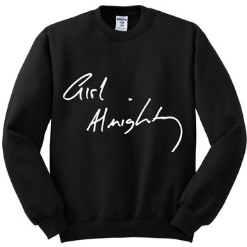 "One Direction ""Girl Almighty"" Louis Tomlinson Handwriting / Autograph Crewneck Sweatshirt"