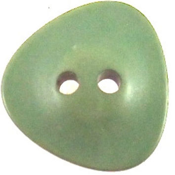 Button Green Odd Shaped 1/2""