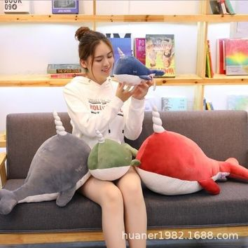 Big Whale Unicorn Doll Plush Toy Cute Whale Doll Shark Dolphin Software Doll For Children Gifts Birthday Gifts