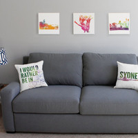 Set of 3 Australia Prints - Destination Wall Art, 12x12 Inches, Koala Print, Sydney Print, Wall Canvases, Travel Decor, Australian Sights
