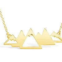 Geometric Mountain Range Necklace
