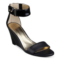 MARC FISHER CORRI WEDGE SANDALS BLACK 7M