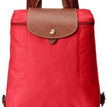 Longchamp Women S Le Pliage Backpack Red Garance - Beauty Ticks
