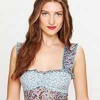 Intimately Free People Free People Clothing Boutique > Mixed Print Ruffle Crop Top