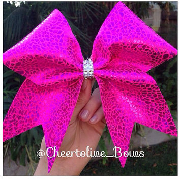 Pink pizzaz bow