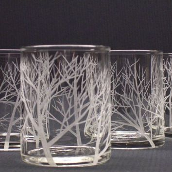 Four Glass Votive Holders Hand Engraved by daydreemdesigns
