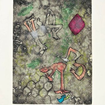 Centre Noeuds (Plate #2), 1974 Limited Edition Etching & Aquatint, Roberto Matta