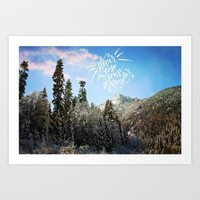 Never lose your sense of wonder-mountains Art Print by Sylvia Cook Photography