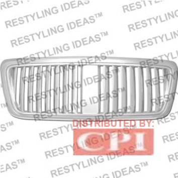 Ford 2004-2008 Ford F150 Chrome Vertical Wide Bar Abs Grille Performance
