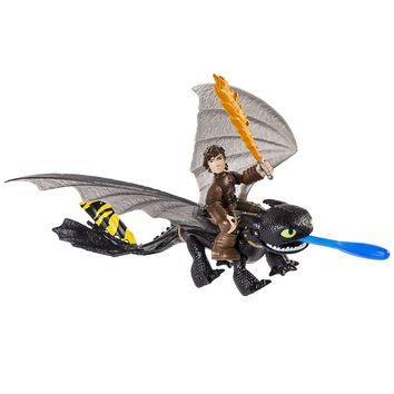 Dreamworks Dragons: Race to the Edge Dragon and Racer Hiccup Action Figure and Toothless …