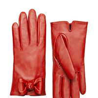Kate Spade Bon Bon Bow Gloves Red