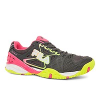 Fila Women's Cage Delirium Tennis Shoes - Grey/Pink/Yellow
