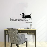 Housewares Wall Vinyl Decal Quote About Dog Cute Animal Puppy Pet Shop Home Art Decor Kids Nursery Removable Stylish Sticker Mural Unique Design for Any Room