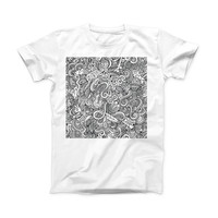 The Hippie Dippie Doodles ink-Fuzed Front Spot Graphic Unisex Soft-Fitted Tee Shirt