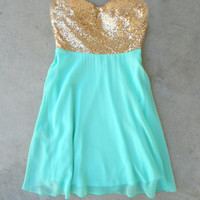 Sparkle & Mint Party Dress [6460] - $52.00 : Vintage Inspired Clothing & Affordable Dresses, deloom | Modern. Vintage. Crafted.