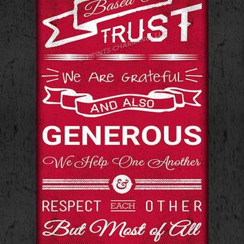 Ohio State Buckeyes | Family Cheer Art | Print | Personalized | Framed