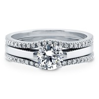 Sterling Silver Round Cubic Zirconia CZ Solitaire Ring Set 1.12 ct.twBe the first to write a reviewSKU# VR210-02