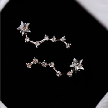 Beidou Star crystal small stud earrings