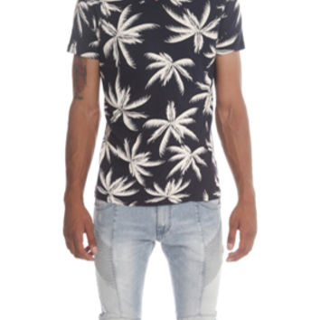 Sol Angeles Palm Print V-Neck