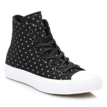 DCCK1IN converse all star chuck taylor ii womens black dolphin shield trainers