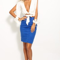 Heartbreak Hotel Skirt Blue Denim