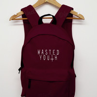 wasted youth back pack