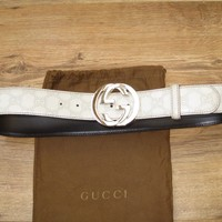 Authentic Gucci Guccissima Leather Belt Size 90 30 - 34 Waist