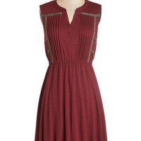 ModCloth Mid-length Sleeveless A-line Do Tell Dress