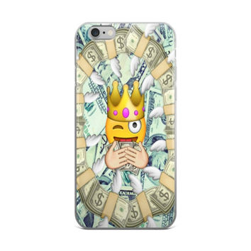 Rich Princess Money Emoji Collage iPhone 4 4s 5 5s 5C 6 6s 6 Plus 6s Plus 7 & 7 Plus Case
