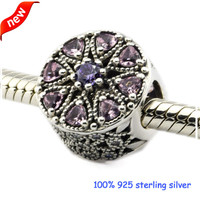 Fits Pandora Bracelets Shimmering Medallion Silver Beads With Multi-Colored CZ 100% 925 Sterling Silver Charms DIY Jewelry 08438