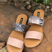 Athena Blush Double strap Sandals