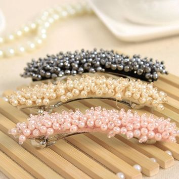 Crystal Acrylic Beads Hair Clips Hairpins for Girls Headwear Hair Accessories Barrettes for Ladies