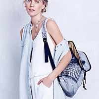 Free People Womens Quilted Dean Backpack