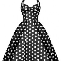 Polka Dot Sleeveless Sheath Tent Mini Dress