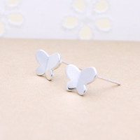 925 sterling silver Butterfly earrings with sterling silver post