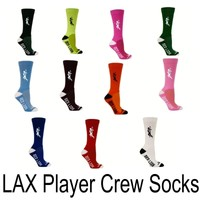 Lacrosse Crew Socks - Lax Solid Player - Kids and Adult Sizes