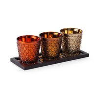 Pfaltzgraff 15-inch 3-light Warm Mercury Tealight Holder