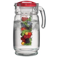 Home Essentials & Beyond 64 oz. Glass Pitcher with Infuser