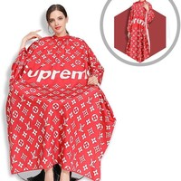 LV SUPREME Professional Imported Barber Cape, Silky Hair Cutting Salon Cape with Snap Closure Light Weight Hairdressing Apron Perfect for Barbershop and Home